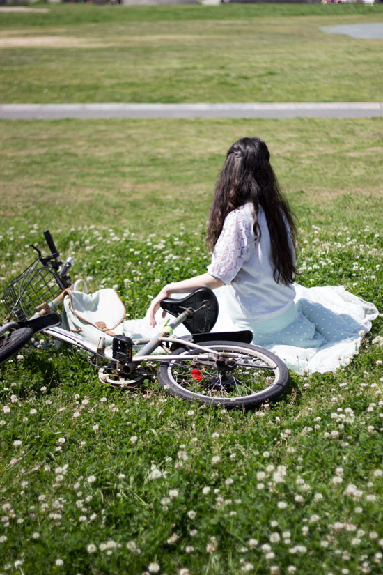 Polka-Skirt-Bike-Grass