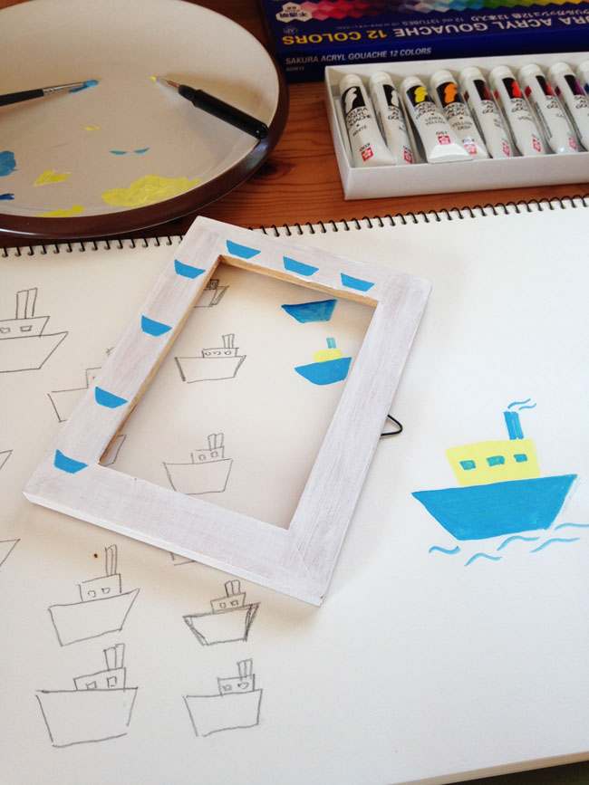 DIY-Painted-Photo-Frames-Boats