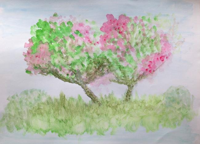 Cherry-Trees-Watercolor