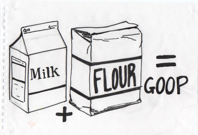Drawing-A-Day-Milk-Flour