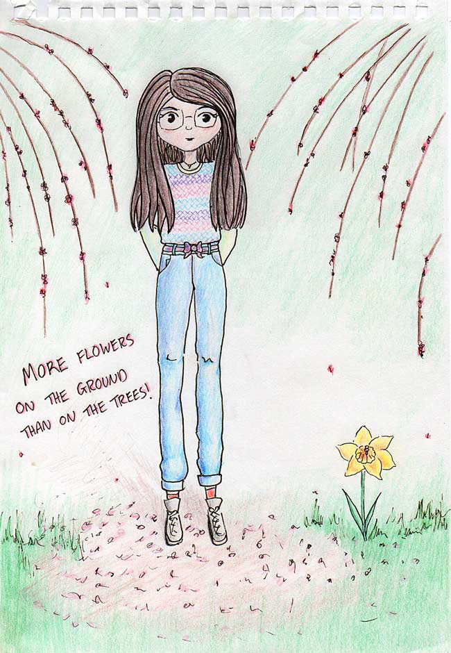 Illustration-coloured-pencil-Plum-Tree-Day