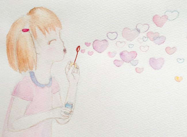Watercolour-Illustration-Pencil-Cropped-Share-the-Love-Bubbles
