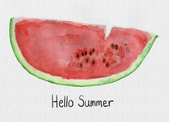 Watermelon-water-colour-illustration