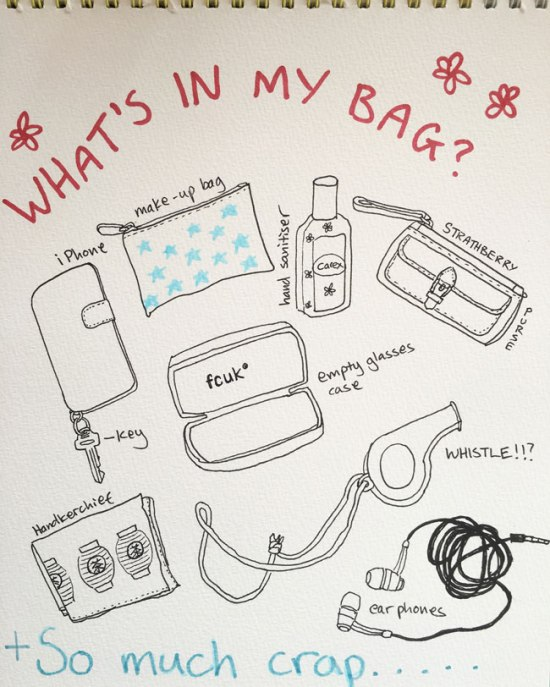Day-4:28-What's-in-my-bag-pen-illustration